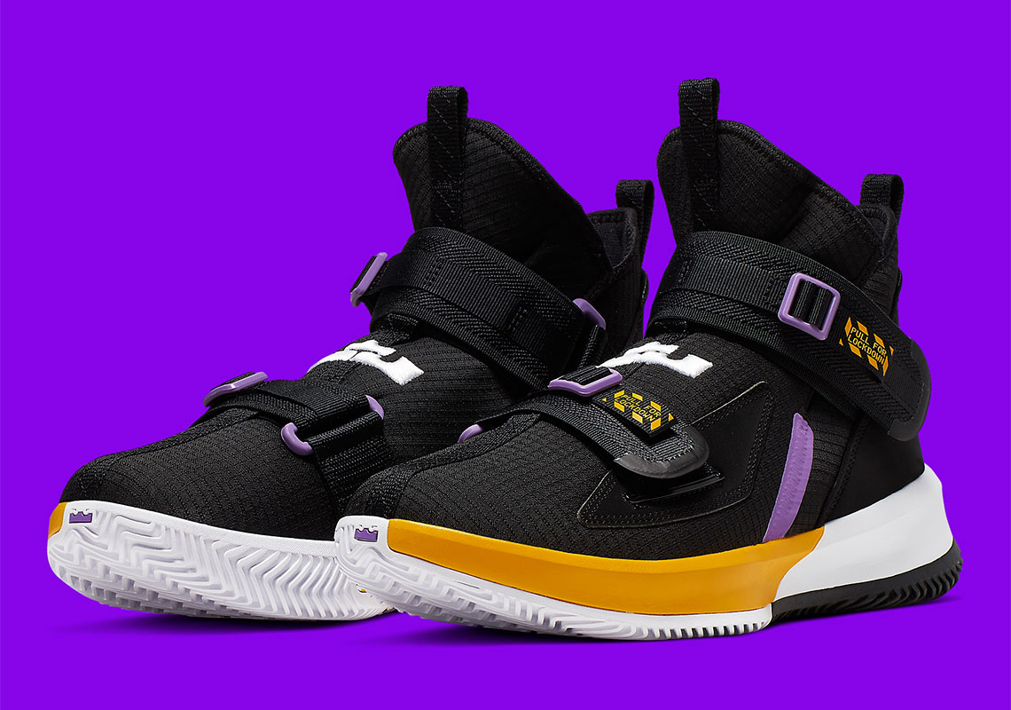 separation shoes a5ee6 fbd1b Nike LeBron Soldier 13 Lakers AR4228-004 Release Info ...