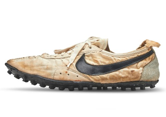 Nike Moon Shoe Sells For $437,500 At The Stadium Goods Sotheby's Auction