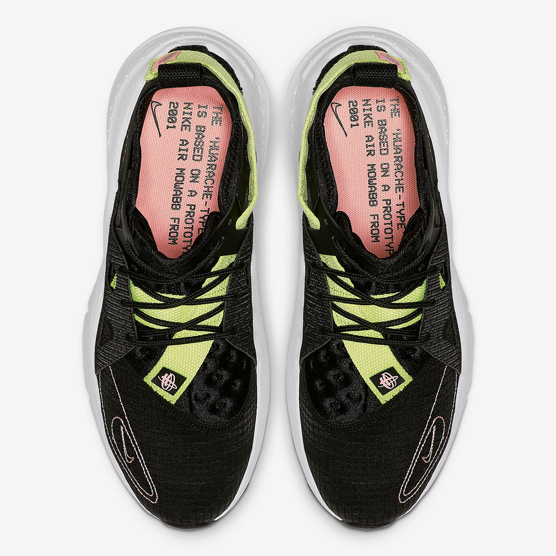 Nike Huarache Type N.354 Black Pink Yellow BQ5102-001 ...