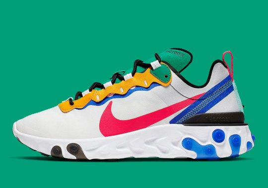 The Nike React Element 55 Continues To Boast Creative Colorblocking Schemes