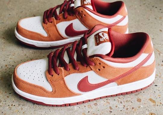 The Nike SB Dunk Low Appears In Russet And Cedar Tones