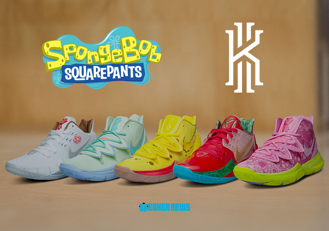 Where To Buy The Full SpongeBob SquarePants x Nike Kyrie Collection