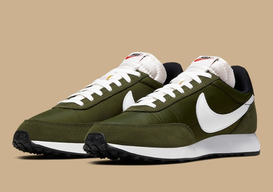 Full Olive Nylon Uppers Appear On The Classic Nike Tailwind