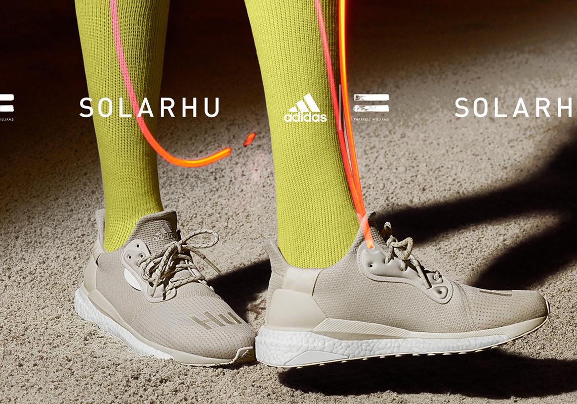 Pharrell adidas SOLARHU Glide Greyscale Pack Release Date