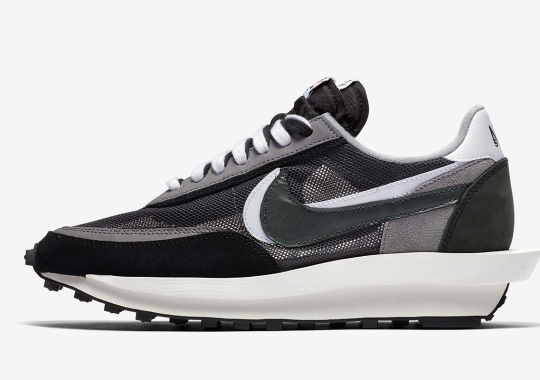 Official Images Of The sacai x Nike LDWaffle In Black/White