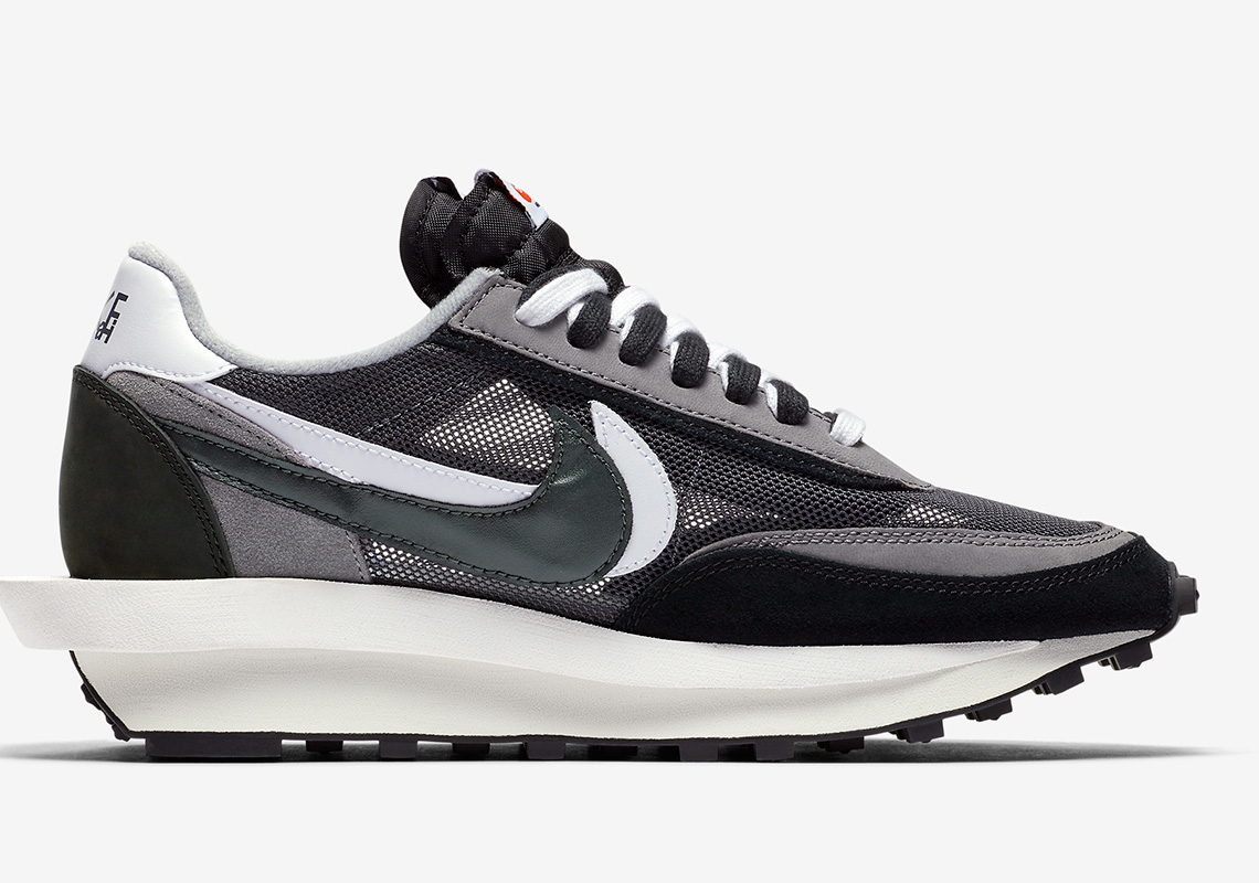 81474591 sacai x Nike LDWaffle. Release Date: September 5th, 2019 $180. Color:  Black/Anthracite/White/Gunsmoke Style Code: BV0073-001
