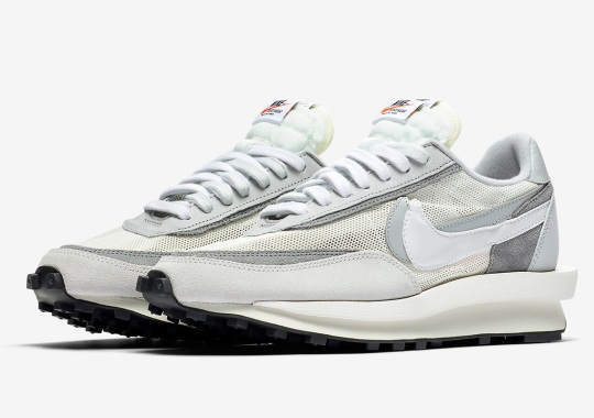 Official Images Of The sacai x Nike LDWaffle In White/Grey