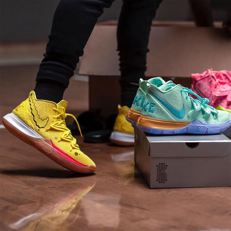 Spongebob Nike Kyrie Shoes - Release