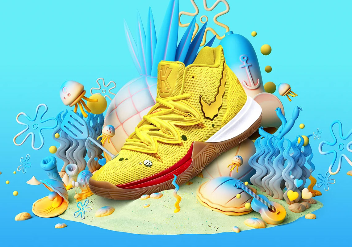 4449fe514fe Nike And Kyrie Irving Celebrate 20th Anniversary Of SpongeBob Squarepants