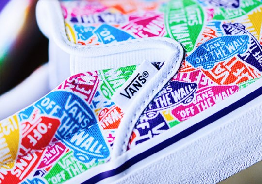 The Vans Slip-On Gets Multi-Colored All-Over-Print Logos