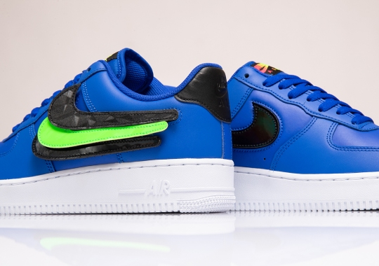 The Nike Air Force 1 With Swappable Swoosh Logos Arrives In Royal Blue