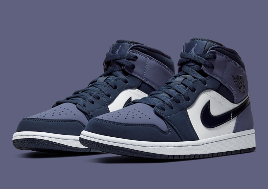 The Air Jordan 1 Mid Continues To Expand With Obsidian And Sanded Purple