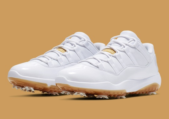 Air Jordan 11 Golf Releasing In Elegant White And Gold