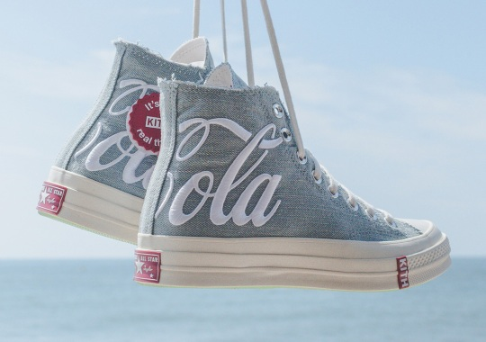 The KITH x Coca-Cola x Converse Chuck 70 In Washed Denim Releases On August 9th