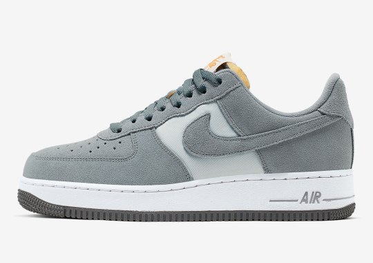 "Nike Air Force 1 ""Cool Grey"" Adds Retro Hits With Exposed Mesh Tongues"