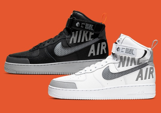 Nike Adds Chainlink Swooshes And Shutter Logos To The Air Force 1 High