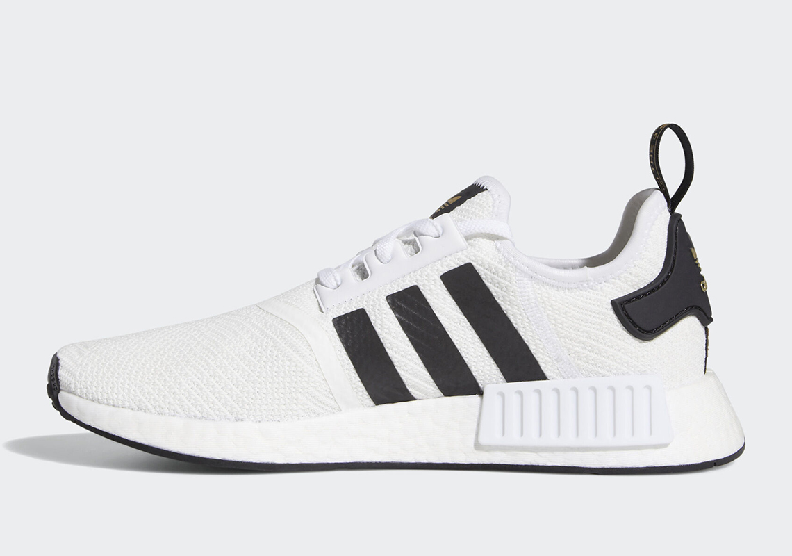 online store 62dad 5fcb5 adidas NMD R1 White Black Gold EG5662 Store List ...