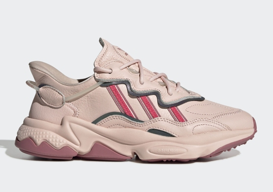 The adidas Ozweego Goes Leather With New Icy Pink Colorway
