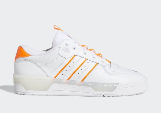 "The adidas Rivalry Low ""Clear Orange"" Features Opaque Midsoles"