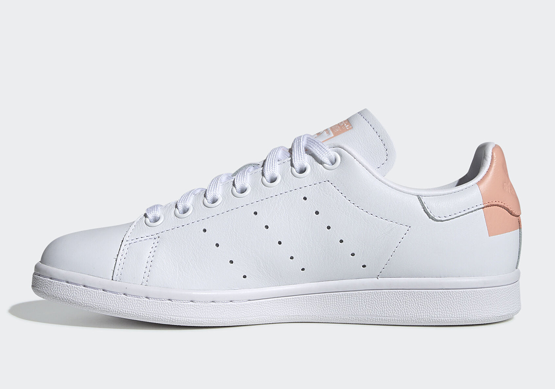 adidas Originals White & Pink Stan Smith Sneakers in 2019