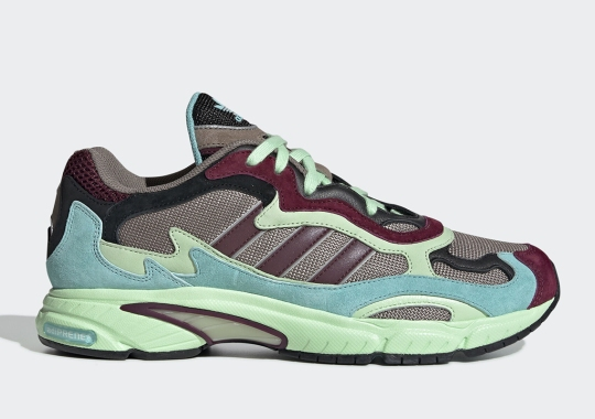 The adidas Temper Run Emerges In Contrasting Maroon And Sea Green