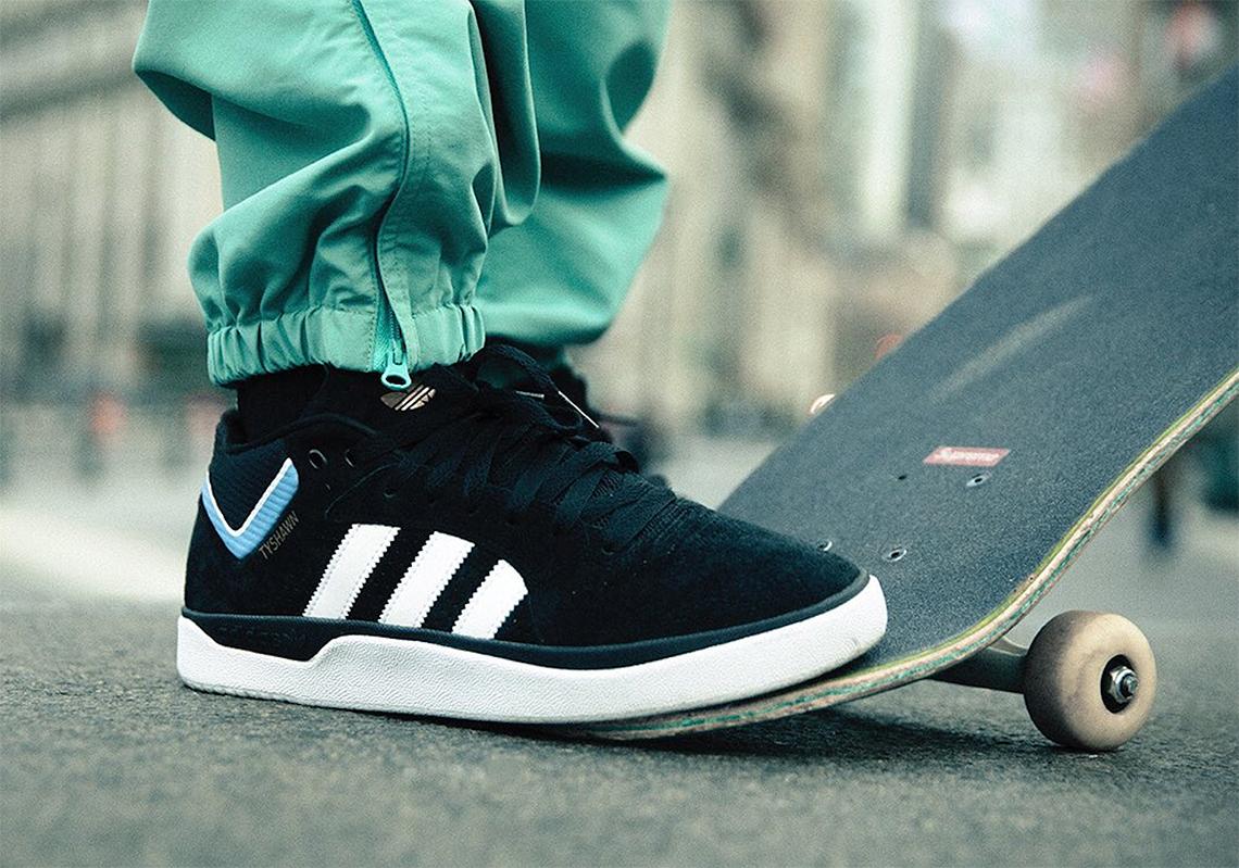 crítico trabajo conveniencia  adidas Tyshawn Black White Blue EE6076 Release Date | SneakerNews.com