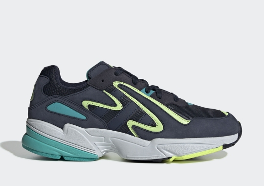 The adidas Yung-96 Chasm Appears In Navy With Neon Accents