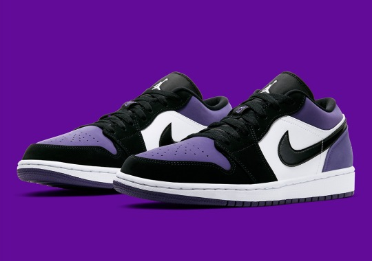"Official Images Of The Air Jordan 1 Low ""Court Purple"""