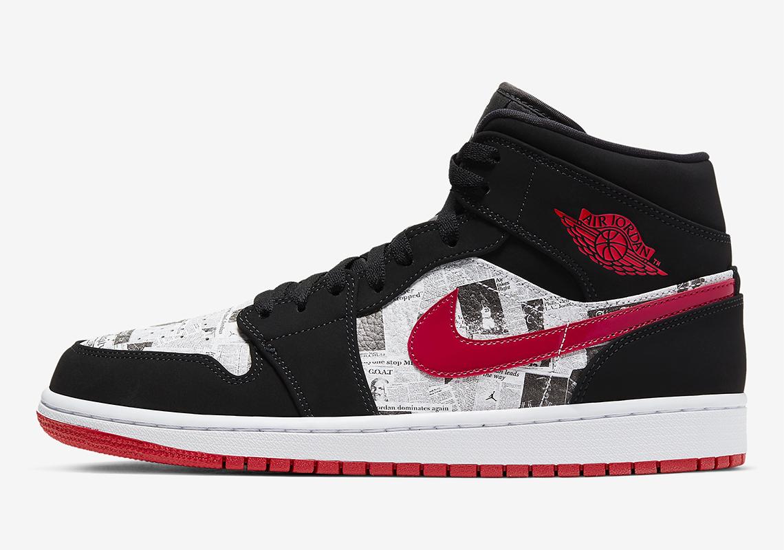 promo code 1b1ed e7a5f Air Jordan 1 Mid Newspaper 852542-061 | SneakerNews.com