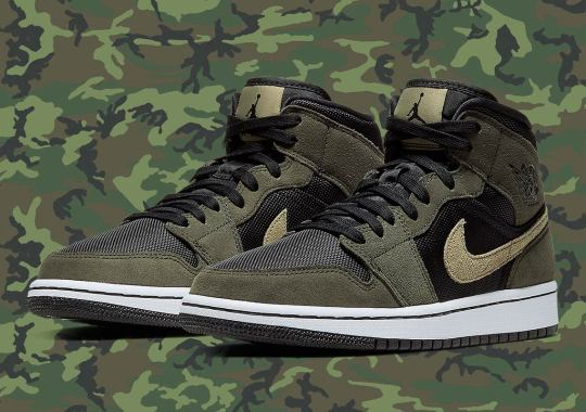 The Air Jordan 1 Mid Gets A Military-Themed Colorway