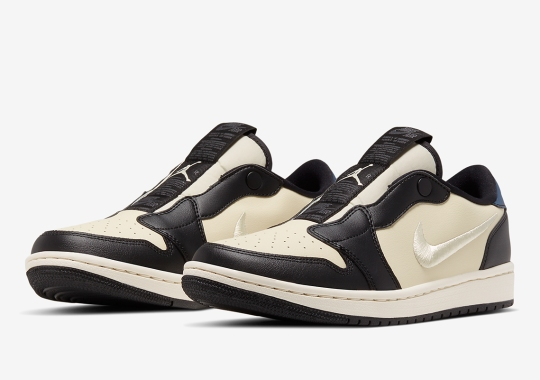 """The Women's Air Jordan 1 Low Slip Appears In A """"Fossil"""" Colorway"""