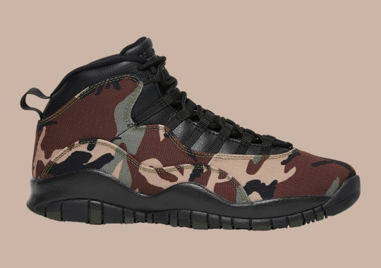 "The Air Jordan 10 ""Camo"" Releases On August 31st"
