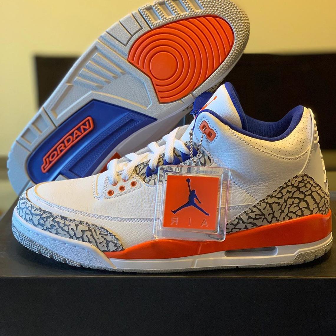 Jordan 3 Knicks 136064-148 Release Date