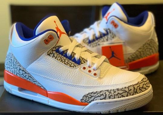 "Detailed Look At The Air Jordan 3 ""Knicks"""