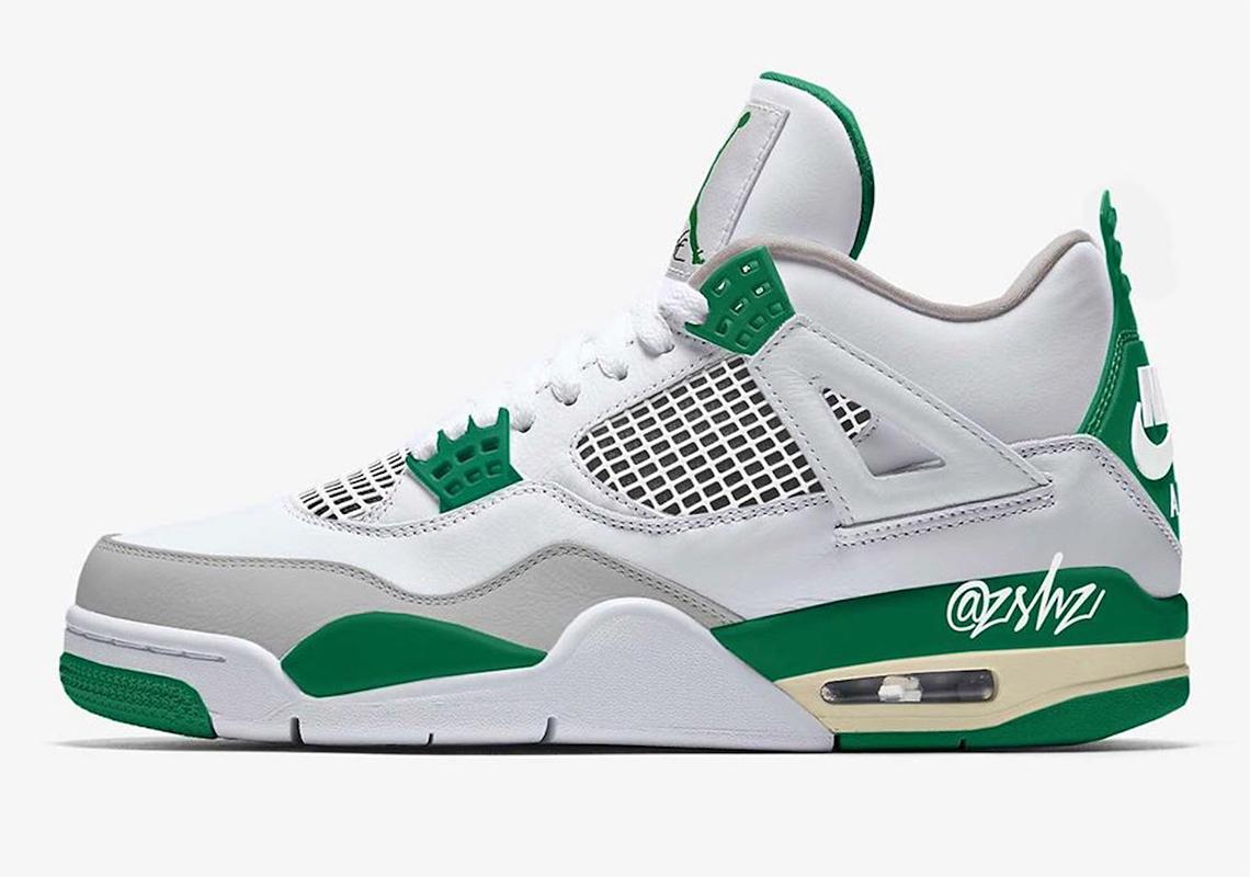 green and white jordan 3