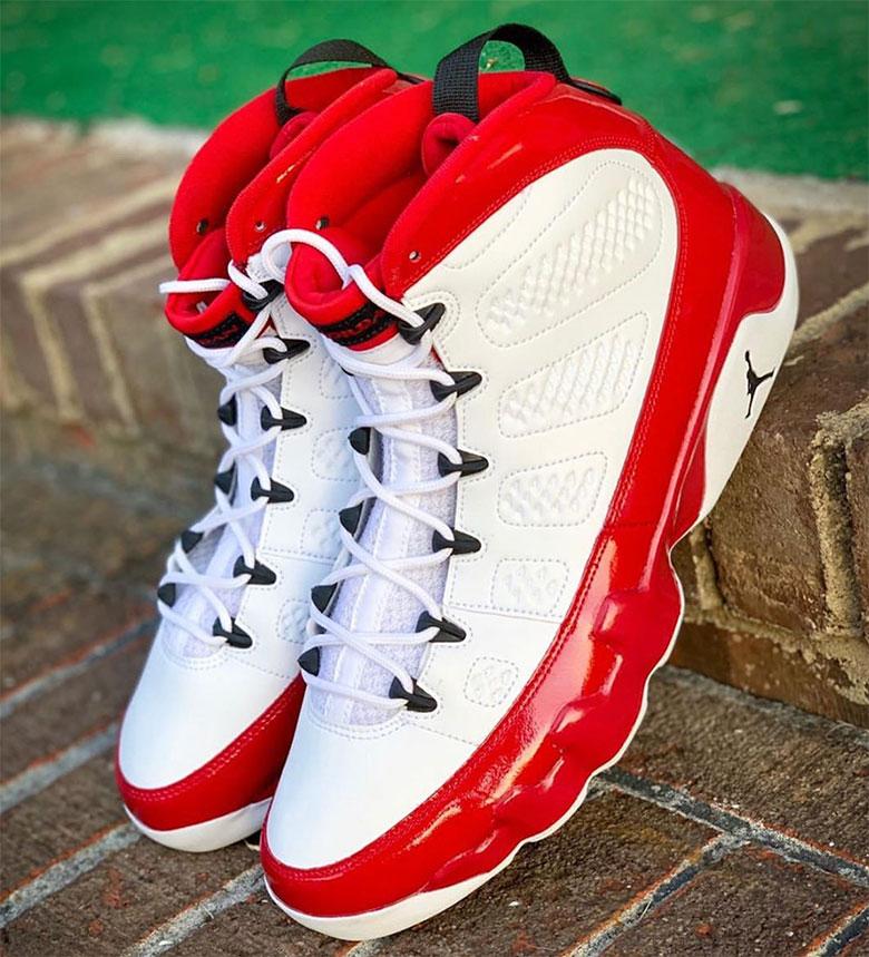 jordan retro 9 white red
