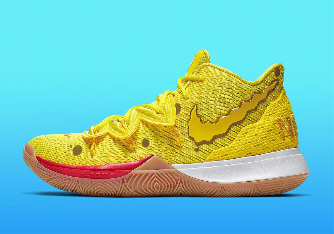 Alas bolita Segundo grado  SpongeBob Nike Kyrie Shoes - Full Release Info | SneakerNews.com