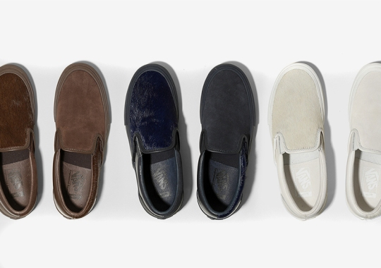 Engineered Garments And Vans Vault Add Mismatched Cow Hair To The Slip-On