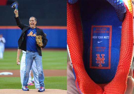 Jerry Seinfeld Reveals Nike Shox TL Made From New York Mets Jerseys