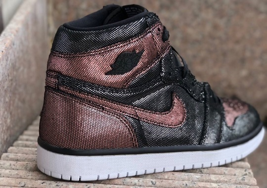 The Air Jordan 1 Retro High OG Fearless Appears In A Women's-Only Metallic Rose Gold Colorway