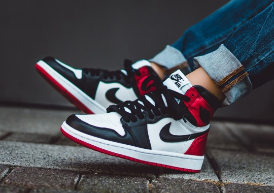 "Where To Buy The Air Jordan 1 ""Satin Black Toe"""