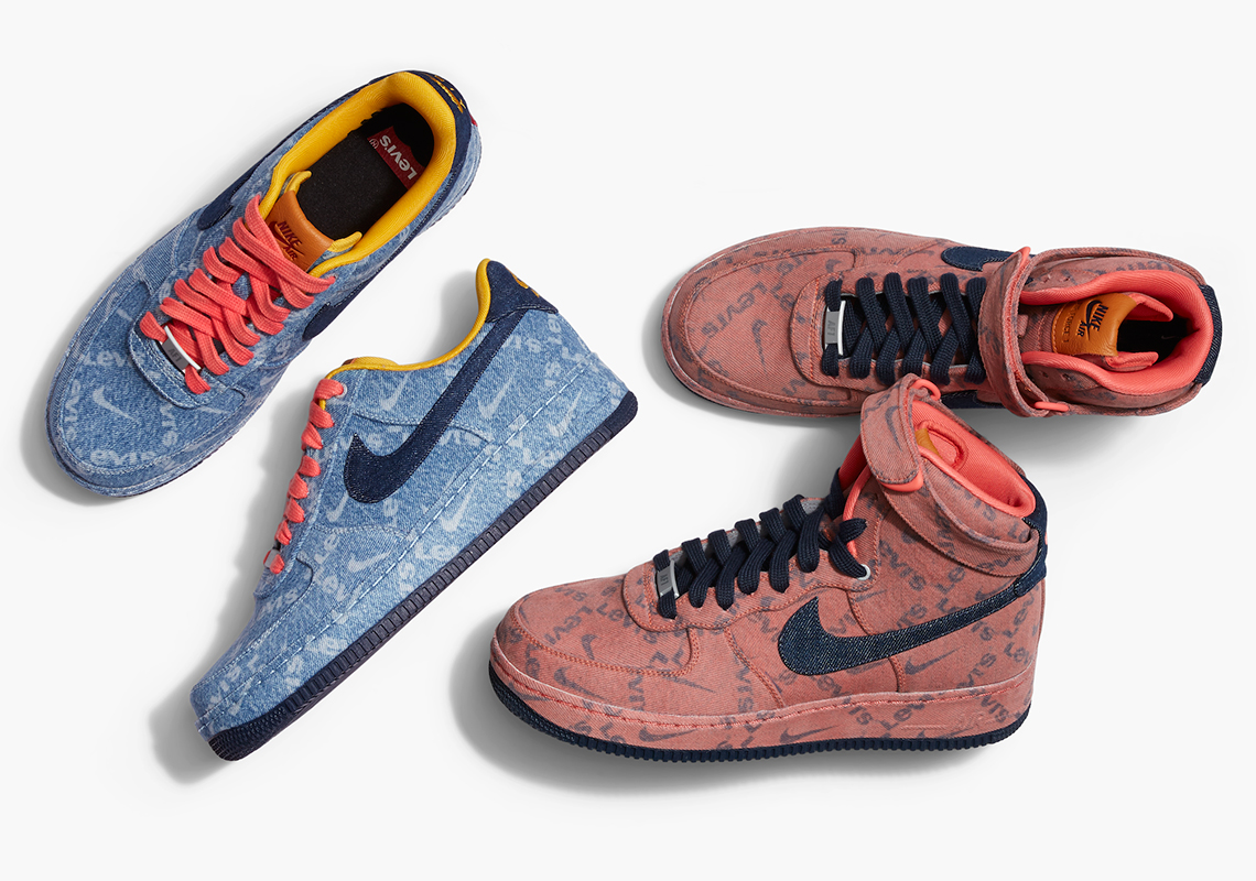Levi's Nike By You Indigo Pink Denim Exclusive |