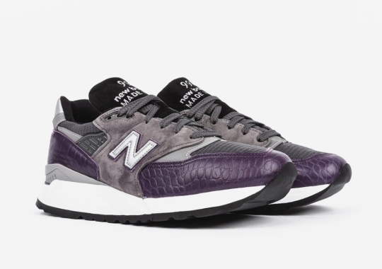 "Ultra-Luxe Purple Croc Leather Comes To The New Balance 998 ""Made In The USA"""
