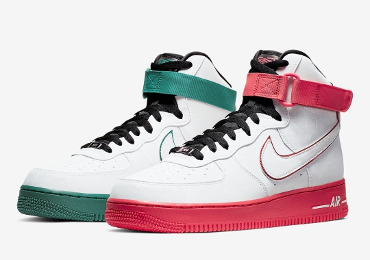 "The Nike Air Force 1 High ""China Hoops Dreams"" Features Alternate Colorblocking"