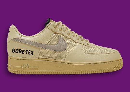 The Nike Air Force 1 Gore-Tex Appears In Golden Uppers