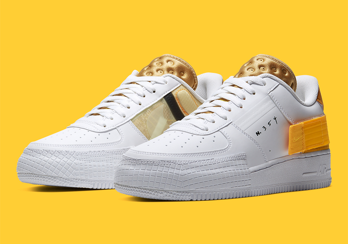 bas prix 4e5a9 40e26 Nike N354 Air Force 1 Type Yellow AT7859-100 Release Info ...