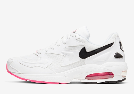 The Nike Air Max 2 Light Accents Clean White With Pink Soles