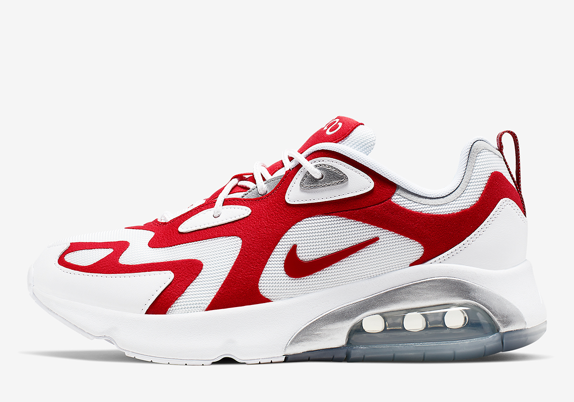 "The Nike Air Max 200 Releases In A Familiar ""University Red"""