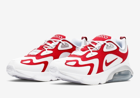 """The Nike Air Max 200 Releases In A Familiar """"University Red"""""""
