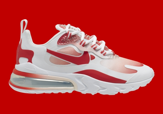 """The Nike Air Max 270 React """"Bubble Wrap"""" Features Red Gradients"""